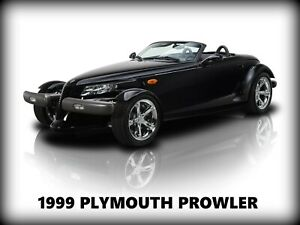 1999 Plymouth Prowler in Black NEW Metal Sign: Pristine Restoration! Large Size