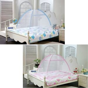 Image is loading Portable-Foldable-Baby-Kids-Toddler-Bed-Canopy-Mosquito-  sc 1 st  eBay & Portable Foldable Baby Kids Toddler Bed Canopy Mosquito Net Tent ...