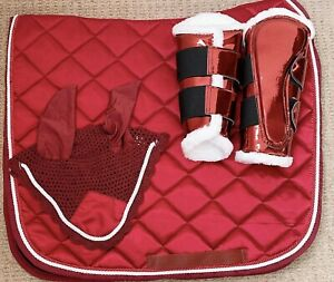 Matchy-Set-Saddle-Pad-boots-and-Fly-Veil