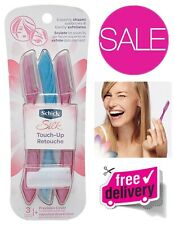 Schick Silk Touch-up Multipurpose Exfoliating Dermaplaning Tool, Eyebrow Razor - 3 Count