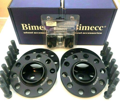 2x12mm 2x15mm Negro Aleación Separadores De Rueda Cerraduras Pernos Negro M5 F10 F80 M3 M4 M2