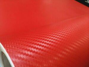 Matte Red Carbon Fiber 3D Texture Vinyl Car Vehicle Auto ...