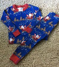Hanna Andersson 90 3 Pajamas Holiday Christmas Santa Pjs Long Johns