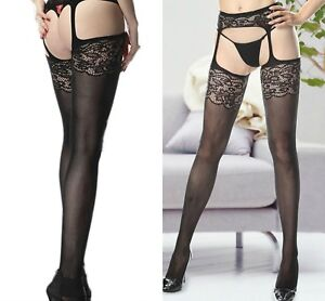 c121fa8d2eb78 Image is loading New-Ladies-Styles-Fishnet-Crotchless-Suspender-Stockings- Tights-