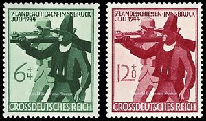 EBS-Germany-1944-Shooting-Competition-Landesschiesen-Michel-897-898-MNH