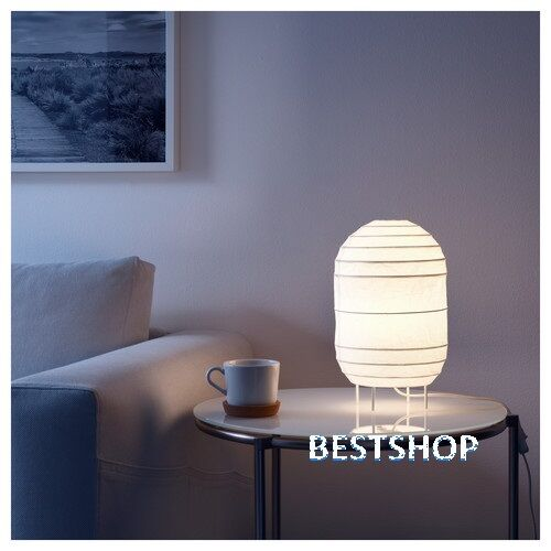 Ikea cutie modern storuman table lamp shade rice paper 12 x 7 ebay mozeypictures Image collections