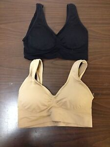 3 NEW LACED NUDE AUTHENTIC GENIE BRA SIZE LARGE W