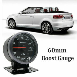 60mm-Turbo-Boost-Pressure-Pointer-Gauge-Meter-Smoked-Dials-30Psi-Pob-LED