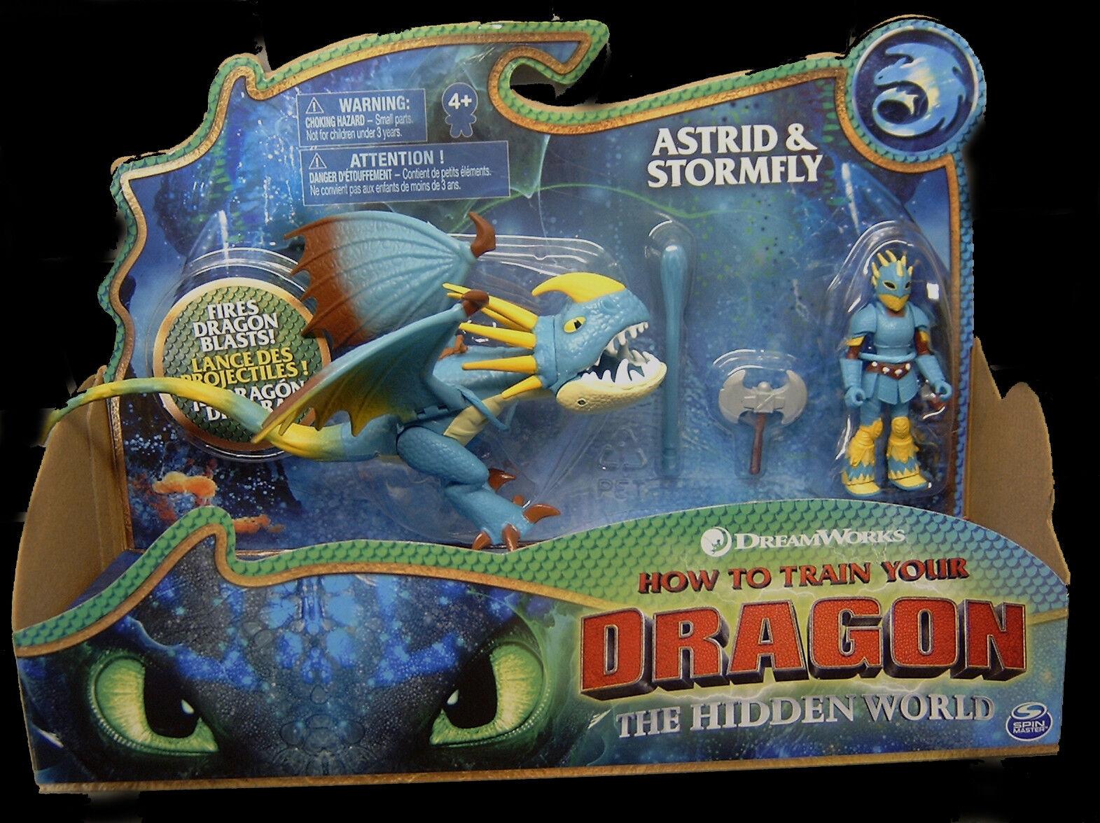 Dragons 3-Hidden World/Il mondo segreto Astrid & Tempesta Freccia/STORMFLY Nuovo/Scatola Originale
