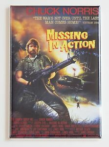 Missing in Action FRIDGE MAGNET (2 x 3 inches) movie poster chuck ...