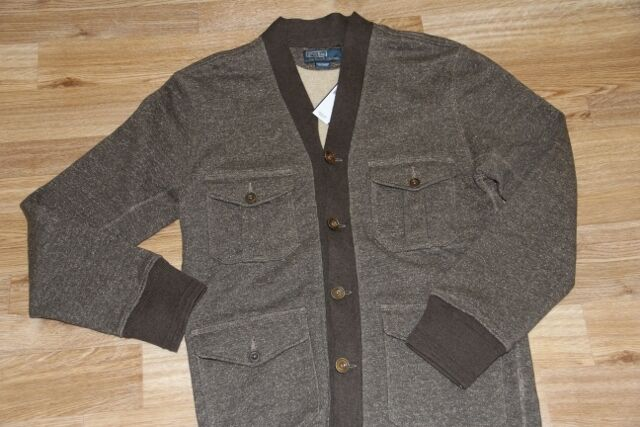 325 Polo Ralph Lauren Heavy Cotton Shawl Collar Cardigan Sweater S