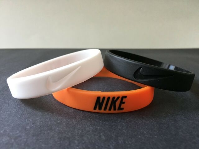 official photos b4c10 d0b31 Nike Sport Baller Band Silicone Rubber Bracelet Wristband (Set for 3) for  sale online
