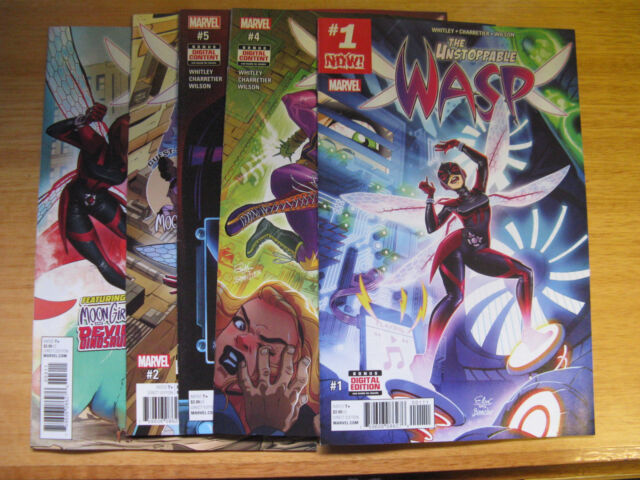THE UNSTOPPABLE WASP #1,2,3,4,5.  2017.