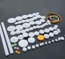 Motor Worm Turbine 0.5 Module Reduction Gears DIY Model Parts 2A ShineBear 100pcs White Right Hand Plastic 610