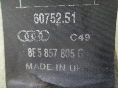 Sicherheitsgurt hinten links rechts Audi A4 B6 8E 8E5857805G C49 Gurt hellgrau