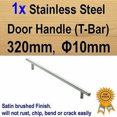 Stainless Steel 128//288//520mm Φ12 Round Cabinet Cupboard Drawer Door Handles