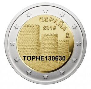 ESPAGNE-COMMEMORATIVE-2019-034-REMPART-D-039-AVILA-034-2-EURO-NEUVE-UNC