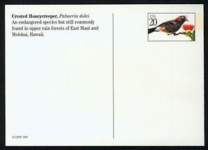 #UX295 20c Tropical Aves: Escudo Honeycreeper, Nuevo Cualquier 5=