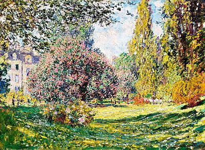 Landscape The Parc Monceau A2 by Claude Monet High Quality Canvas Print