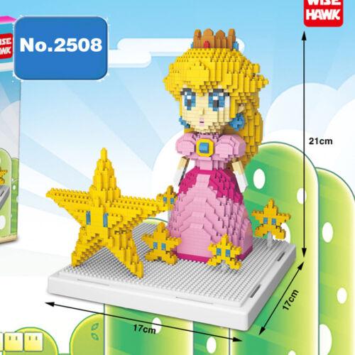 Bausteine Peach Princess Geschenk Modell Star DIY Spielzeug Dekoration