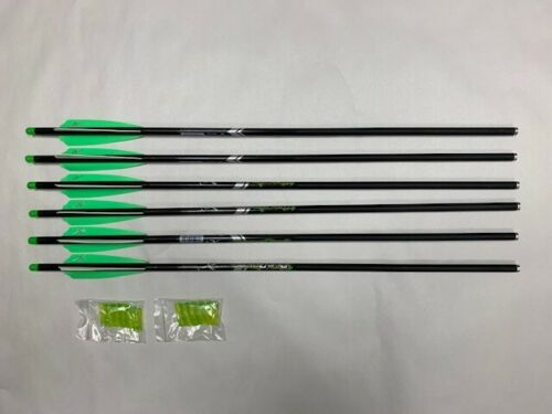 "6 Carbon Express PileDriver 22/"" Carbon Moon Nock Crossbow Arrow Bolts"