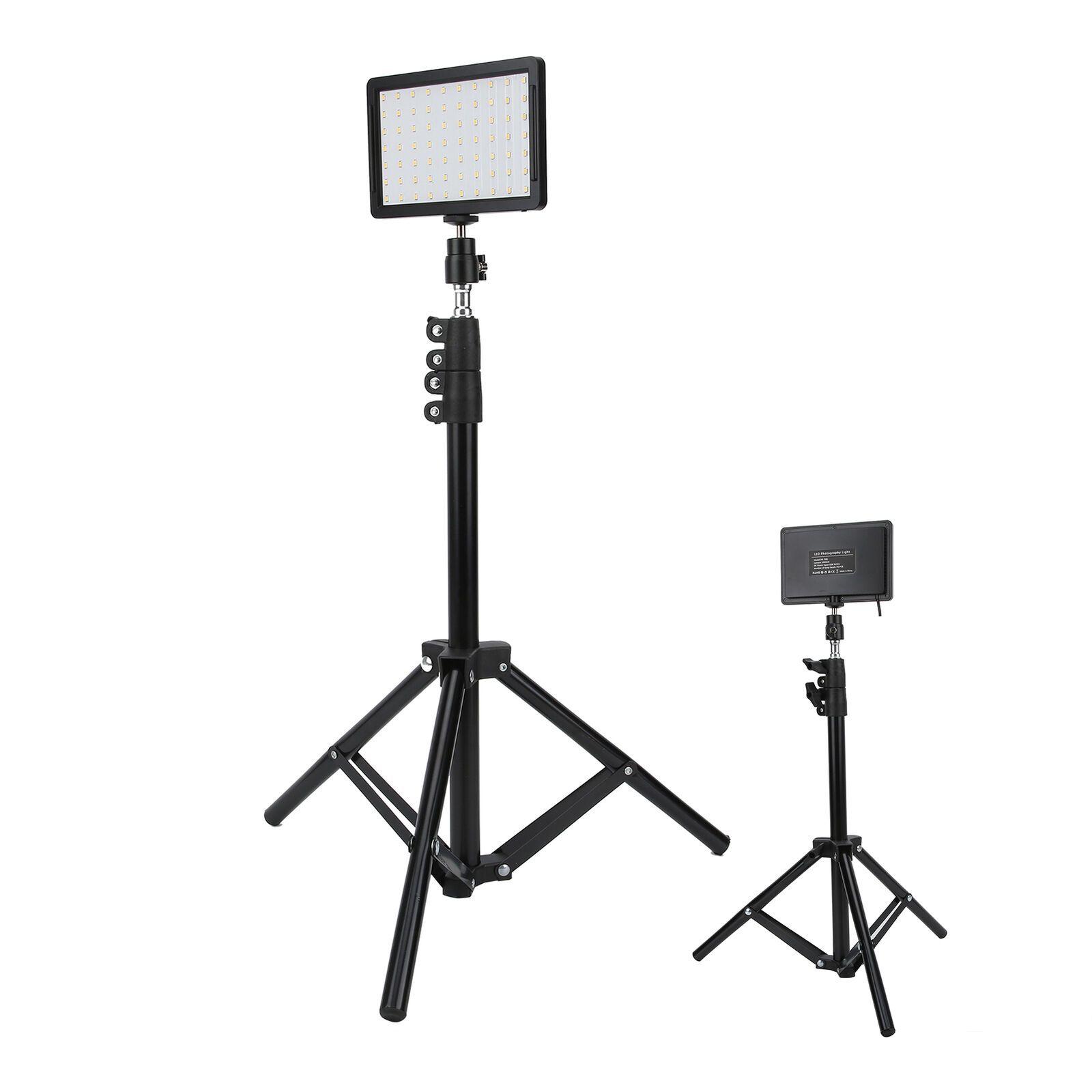 3X LED Video Light Photography Fill Light w/ Adjustable Tripod +4 Colors Filters