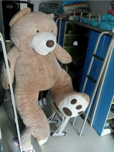 Teddy Bear Plush Giant Hung Big Soft Toy Doll No Cotton Just Cover Gift 130cm@
