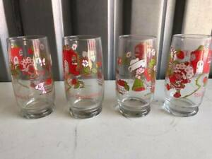 Vintage-Strawberry-Shortcake-Collector-039-s-Glasses-from-1980