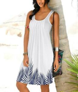 beachtime strandkleid damen kleid freizeitkleid Ärmellos