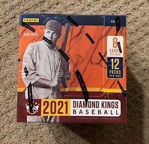 2021 Panini Diamond Kings Baseball HOBBY Box FACTORY SEALED 2 Hits