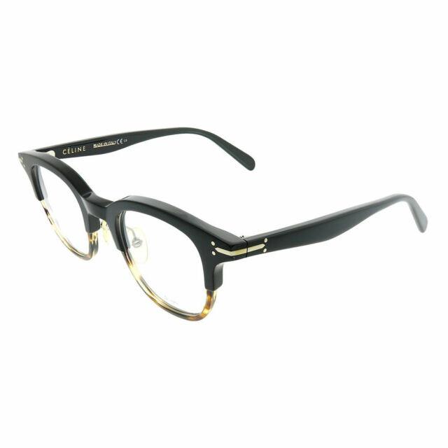 e25baefe2dc Celine Erin CL 41422 T6P Black Havana Plastic Square Eyeglasses 46mm