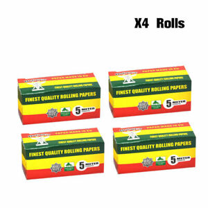 5m papers 4pcs HORNET BEAUTY Natural UNREFINED ORGANIC Rolling paper ROLLS