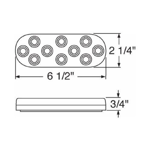 "Clear Lens Amber 10 LED 6/"" Oval Trailer Park Turn Signal Flasher Light Kits"