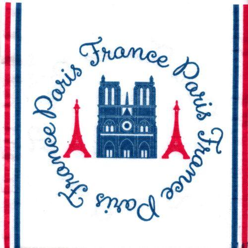 SERVIETTES EN PAPIER PARIS FRANCE MONUMENTS PAPER NAPKINS FRANCE PARIS
