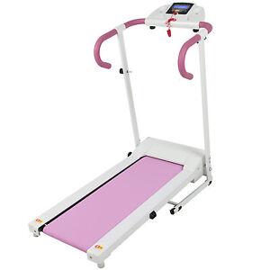Pink 500w Portable Folding Electric Motorized Treadmill