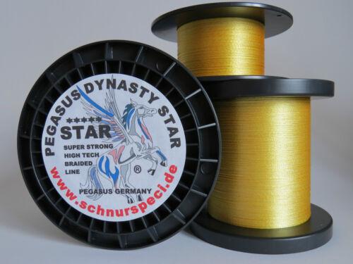 Dynasty Star geflochtene Angelschnur 3000m gelb 6 Typen zur Auswahl ab 1m//0,033€