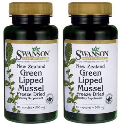 2-X-60-Green-Lipped-Mussel-500mg-Omega-3-Joint-Pain-Arthritis-New-Zealand