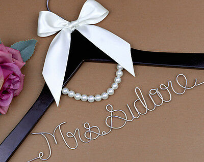 Next Day Delivery Wooden Wire Personalised Bridal Wedding Hanger Top Quality