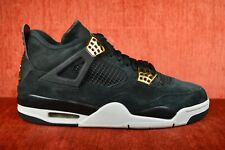 fe144a10295c CLEAN Nike Air Jordan 4 Retro Royalty Black Metallic Gold 308497-032 Size  9.5