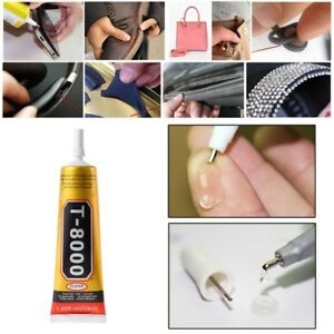 Details about T8000 Multi purpose Adhesive glass touch screen panel frame  fixing glue 15-110ml