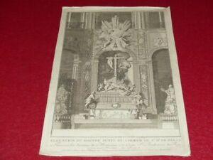 GRAVURE-XVIIIe-D-039-apres-ROBERT-DE-COTTE-ELEVATION-AUTEL-NOTRE-DAME-DE-PARIS-1714