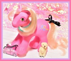 My-Little-Pony-G1-Vtg-BIG-BROTHER-Boy-STEAMER-Train-Pink-Clydesdale-1987