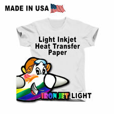 Heat Transfer Light T Shirt Inkjet Printer Iron On Heat Press 10 Sheets 85x11