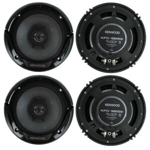 4-New-Kenwood-KFC-1666S-6-5-Inch-300-Watt-2-Way-Car-Audio-Door-Coaxial-Speakers
