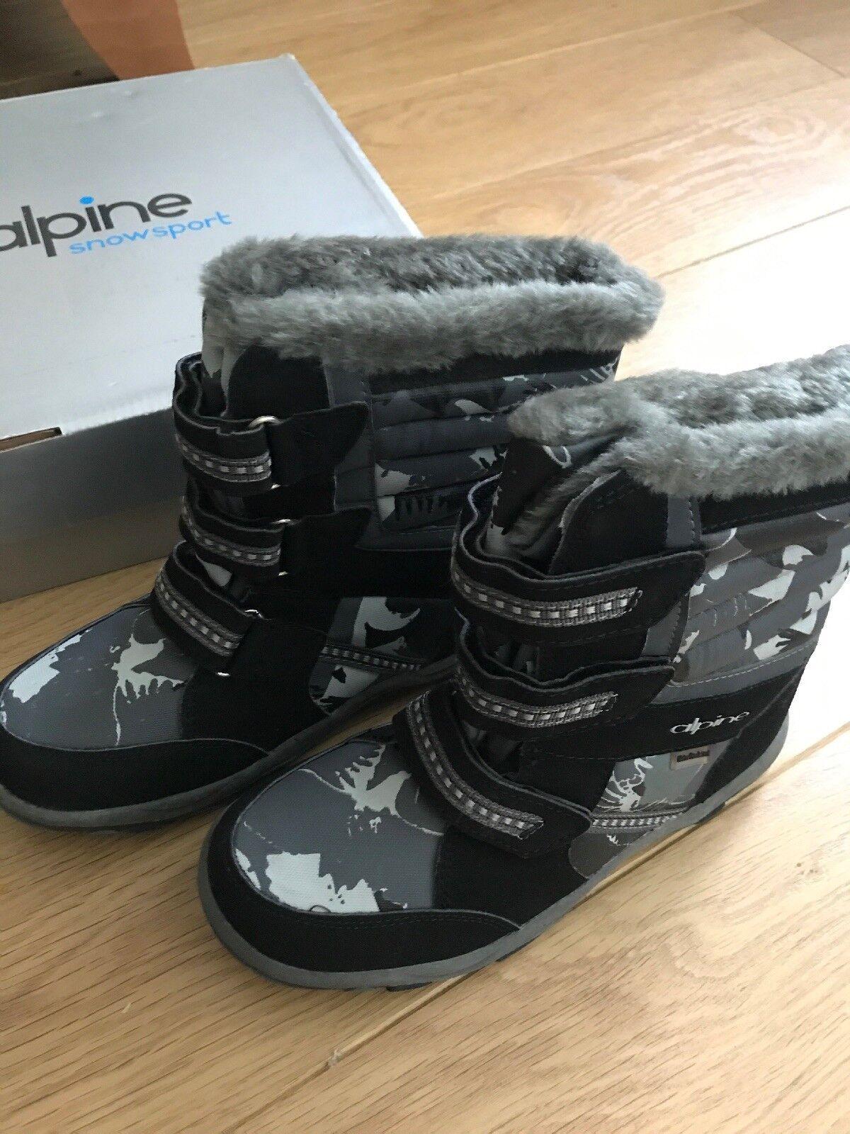 Alpine Snowsport Women's Fur Lined  Snow Boots UK Size 4, Eur 37 New