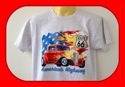 T-Shirt.Hot Rod,M-5XLOld School,Vintage,Route 66,Plus Sizes,Übergröße