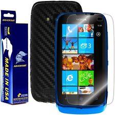 ArmorSuit MilitaryShield Nokia Lumia 610 Screen + Black Carbon Fiber Skin! New!