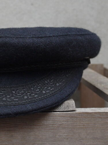French Fishing Hat Made in France Navy Blue Wool Breton Fishermans Cap