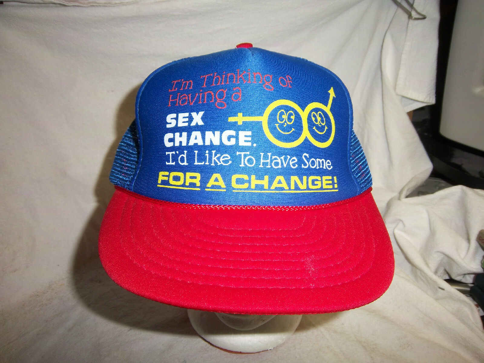 trucker hat baseball cap I'D FOR LIKE TO HAVE SEX FOR I'D A CHANGE rare retro VINTAGE ac2063
