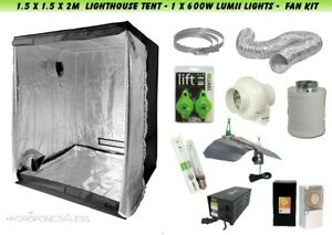Ventola-COMPLETA-coltura-idroponica-filtro-Lumii-LUCE-KIT-600-W-Grow-Tent-1-5x1-5x2m
